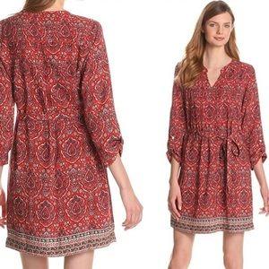 Lucky Brand Mitchell Border Paisley Print Dress